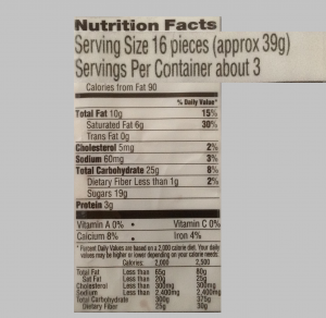 Serving size